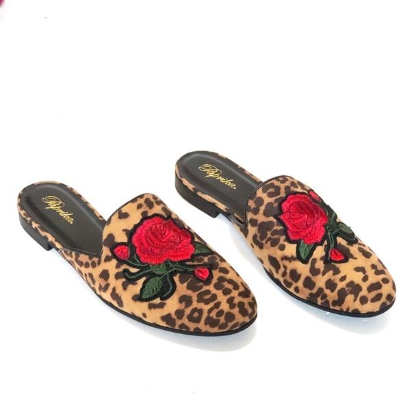 Paprika Shoes   Leopard Print Slip On